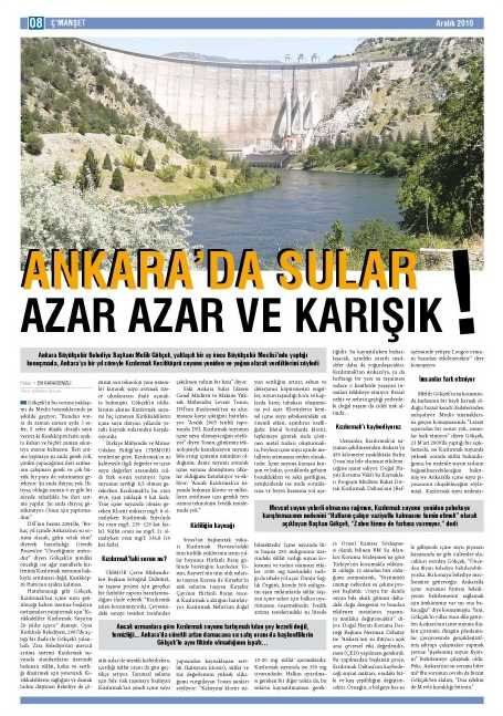 Nature Life Su Arıtma Ankara'da Sular Karışık